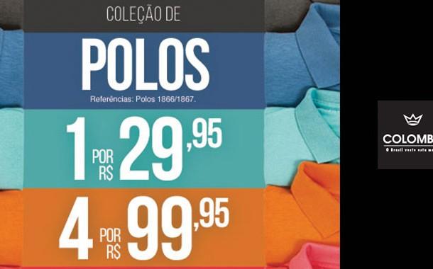 Coleção de Camisas Polos Colombo