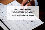 HORÁRIO ESPECIAL DE FINAL DE ANO